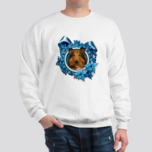 Blue Snowflakes - Collie Sweatshirt