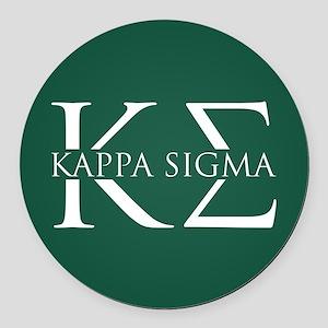 Kappa Sigma Round Car Magnet