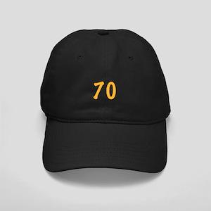 70th Birthday (Orange) Black Cap