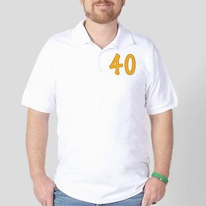 40th Birthday (Orange) Golf Shirt