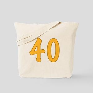 40th Birthday (Orange) Tote Bag