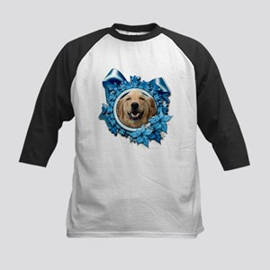 Blue Snowflake - Retriever Kids Baseball Jersey