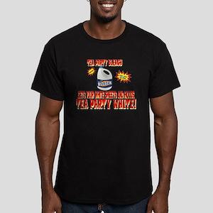 TEA PARTY BLEACH Men's Fitted T-Shirt (dark)