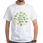 Agility Time v2 White T-Shirt