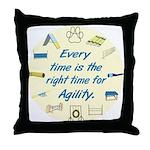 Agility Time v2 Throw Pillow