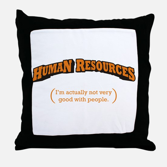 HR / People Throw Pillow