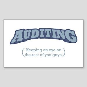 Auditing - Eye Sticker (Rectangle)