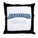 Auditing - Eye Throw Pillow