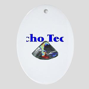 Cardiac Echo Tech Ornament (Oval)