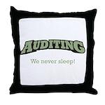 Auditing - Sleep Throw Pillow