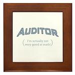 Auditor - Math Framed Tile