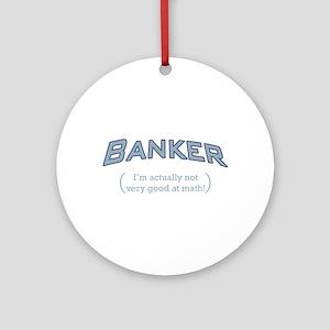 Banker - Math Ornament (Round)