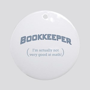 Bookkeeper - Math Ornament (Round)