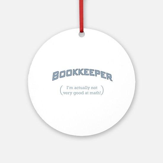 Bookkeeper - Math Ornament (Round)