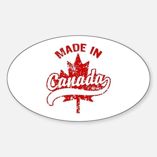 Made In Canada Sticker (Oval)