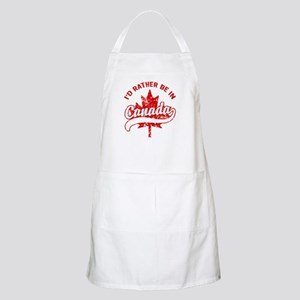 I'd Rather Be In Canada Apron