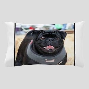 Black Pug Dog Pillow Case