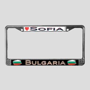 Sofia, BULGARIA - License Plate Frame