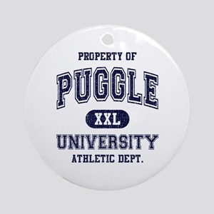 Puggle University Ornament (Round)