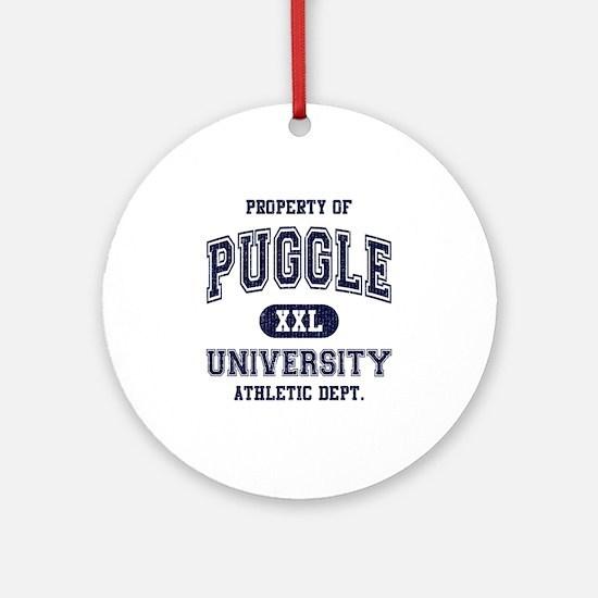 Puggle University Ornament (Round)