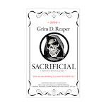 Grmdrpr Sacrificial Wine Label (rectangle) Sticker