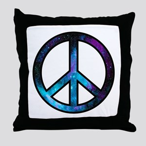Galactic Peace Throw Pillow