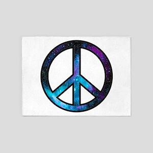 Galactic Peace 5'x7'Area Rug