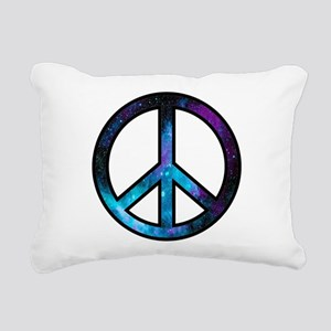 Galactic Peace Rectangular Canvas Pillow