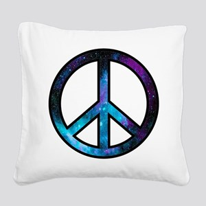 Galactic Peace Square Canvas Pillow