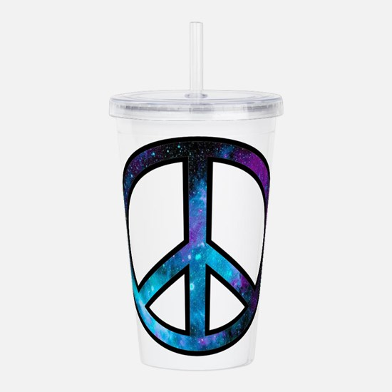 Galactic Peace Acrylic Double-wall Tumbler