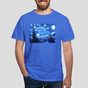 Starry Night Border Collies Dark T-Shirt