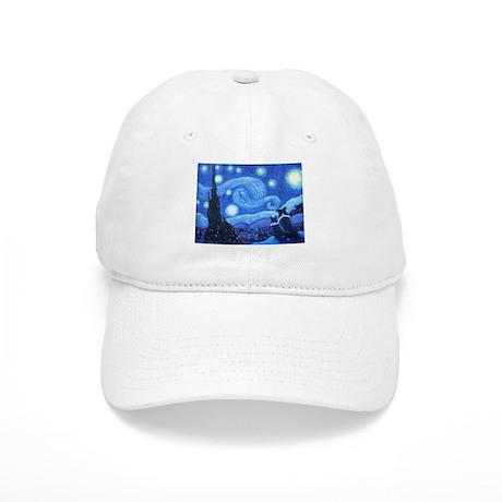 Starry Night Border Collies Cap