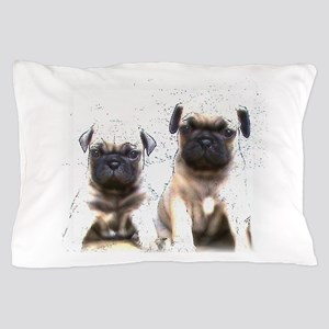 Pug Puppies Pillow Case