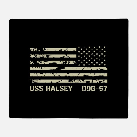 USS Halsey Throw Blanket