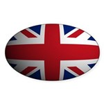 Britian Flag Rounded Oval Sticker