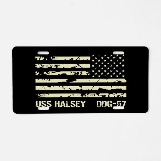 USS Halsey Aluminum License Plate