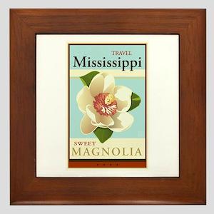 Travel Mississippi Framed Tile