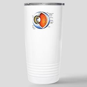 anatomy of the eye Stainless Steel Travel Mug