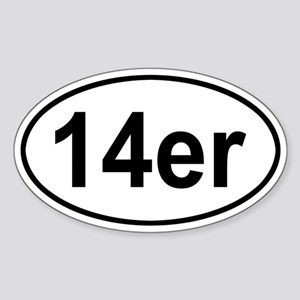 14er Oval Sticker