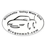 Willamette Valley Miata Club Oval Sticker