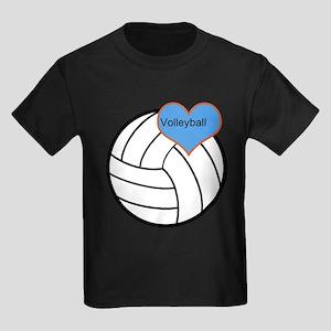 I <3 Volleyball Kids Dark T-Shirt