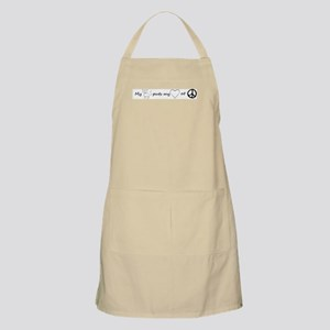 My cat puts my heart at peace Apron