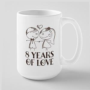 8th Anniversary chalk couple Mugs