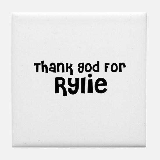 Thank God For Rylie Tile Coaster