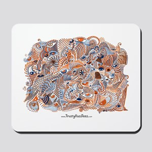 Orange and Blue Eyes Mousepad
