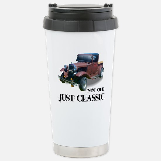 """not old """"just classic"""" Stainless Steel Travel Mug"""