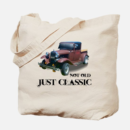 """not old """"just classic"""" Tote Bag"""