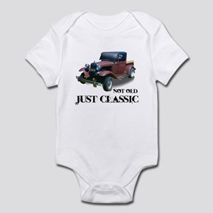 """not old """"just classic"""" Infant Bodysuit"""