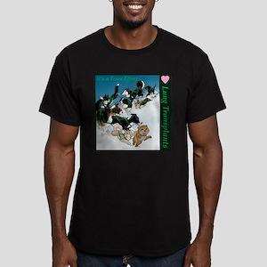 Team Effort: Sled Design Men's Fitted T-Shirt (dar