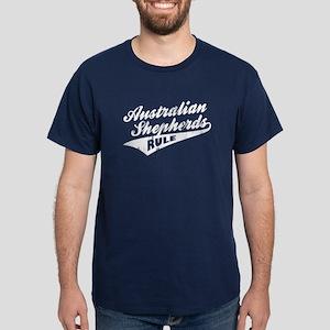 Australian Shepherds Rule Dark T-Shirt